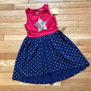 Nwt Gymboree Girls Red White /& Cute Bow Summer Dress 12-18 M NWT July 4th Stars